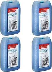 """Rubbermaid - 1026-TL-220""""BLUE ICE"""" MINI PAK, Reusable, 8 OZ (4 Pack)"""