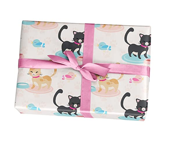 amazon com cat wrapping paper sheets 10 pack of 11x17 wrapping