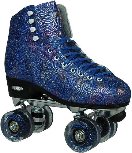 Epic Skates Dazzle06 Quad Roller Skates, Blue