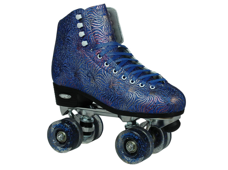 Epic Skates Dazzle04 Quad Roller Skates, Blue