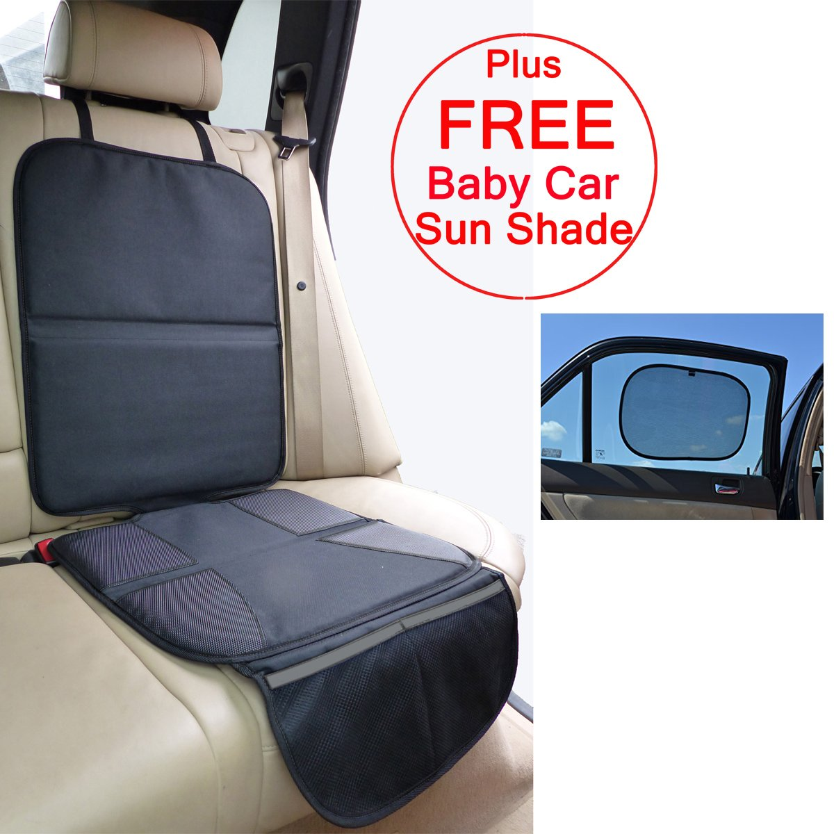 just pure hut baby car seat protector mat covers under child leather saver ebay. Black Bedroom Furniture Sets. Home Design Ideas