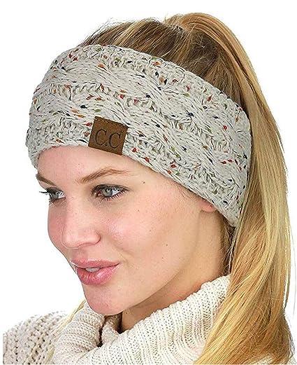 Amazon.com  Heyuni.1PC Knit Headbands Winter Braided Headband Ear ... 6897e041430