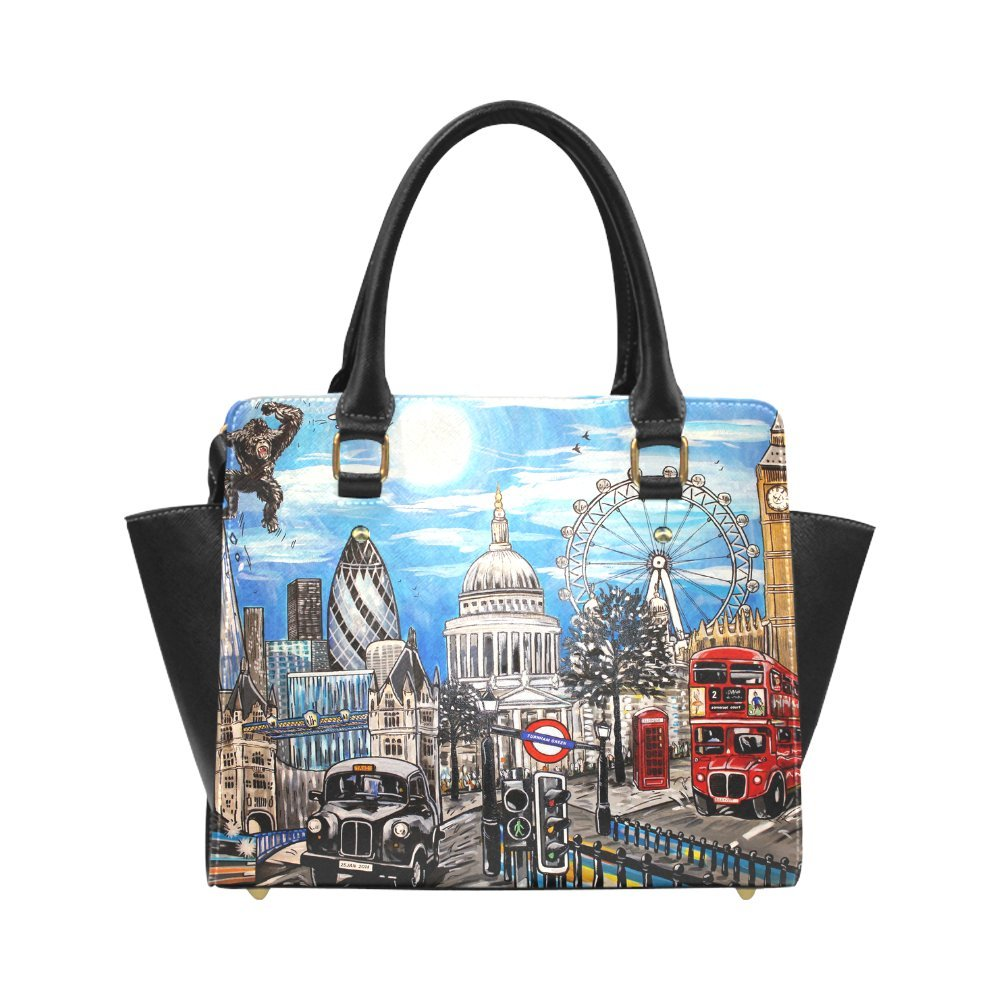 Fashion And Stylish Classic British London Red Telephone Box Big Ben For High-grade PU leather Women Girls Classic Shoulder Handbag/Tote Bag/Handbag SE-59