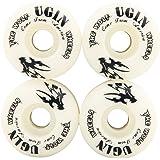 Tera® UGIN PU製 スケボーウィール スケートボードホイール Skateboard Wheels 4個セット 拭き布つき