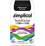 Simplicol expert fabric paint for washing machine or manual colouring: Tie Dye, Recolour, and Restore Your Fabrics and Clothes - Midnight Black