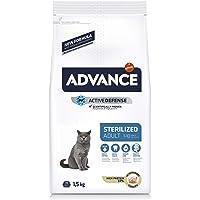 ADVANCE Pienso para Gatos Esterilizados Adultos con Pavo - 1,5Kg