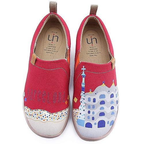 UIN - Mocasines de Lona para Mujer Rojo Red: Amazon.es: Zapatos y complementos
