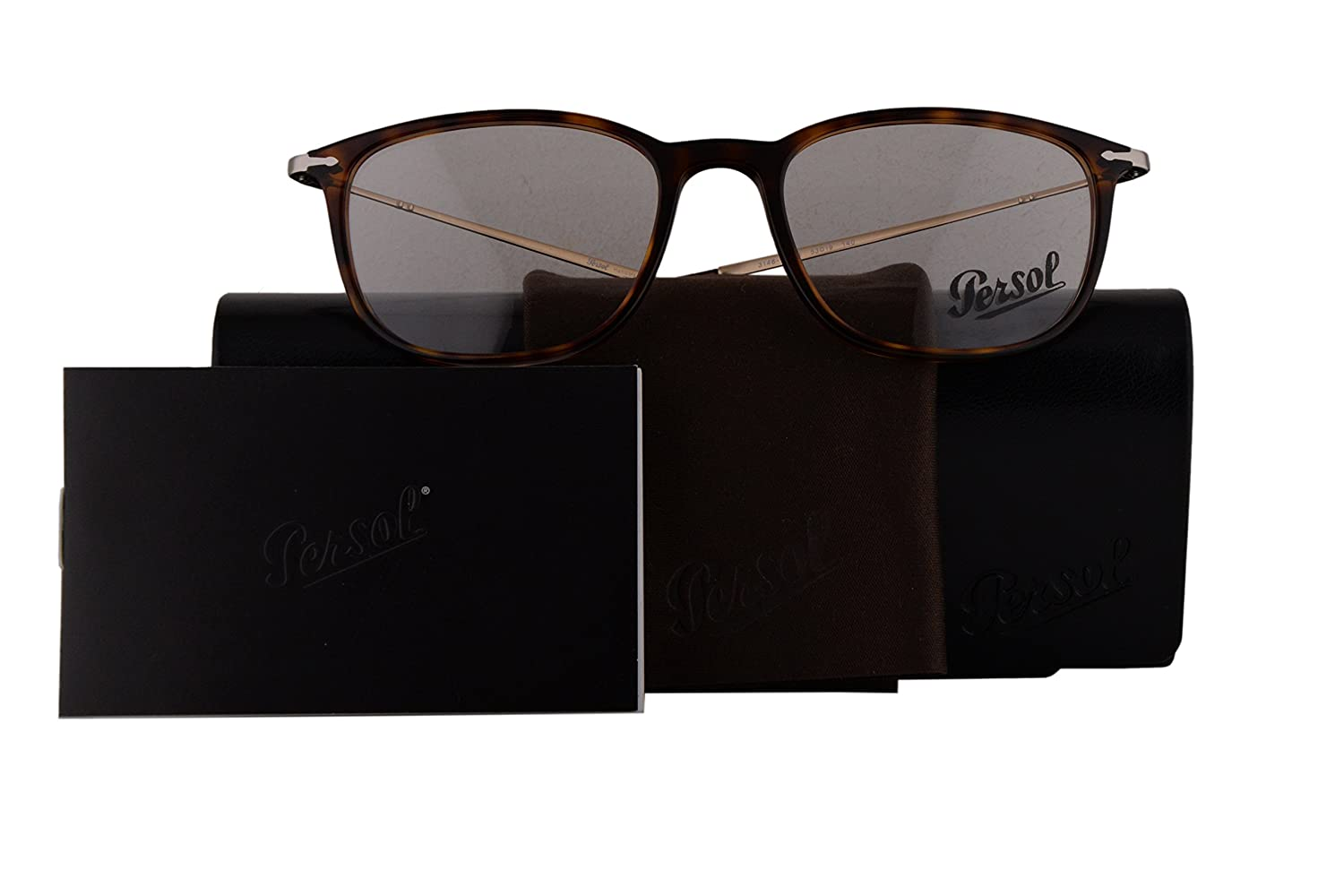 185c1a66ac79d Persol Authentic Eyeglasses PO3146V Havana w Clear Demo Lens 24 PO 3146-V ( 53mm)  Amazon.co.uk  Clothing