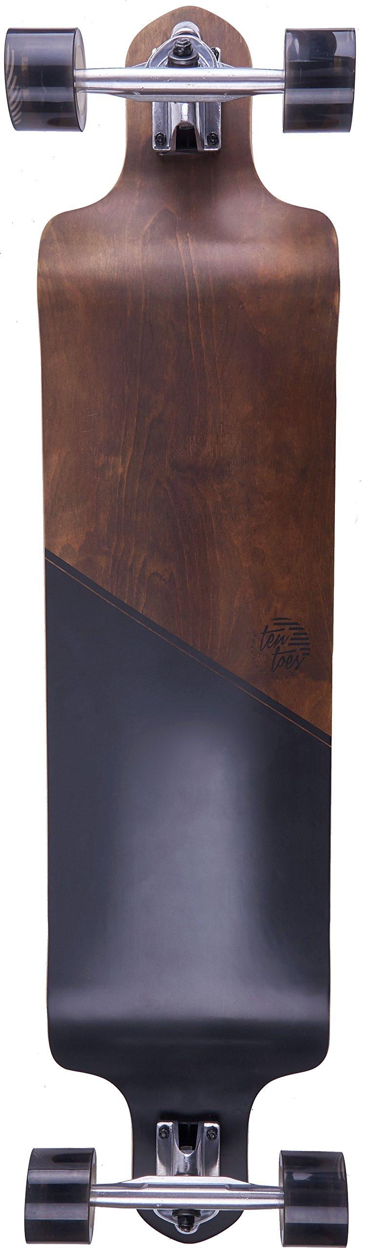 Ten Toes Board Emporium The Drops Drop Down Longboard Dropdown Skateboard, Black