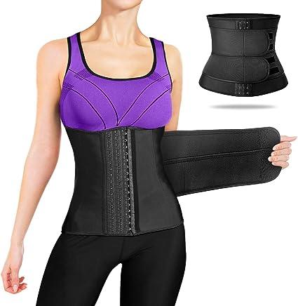 Women Weight Loss Polyester Waist Trainer Workout Sweat Corset Trimmer Belt