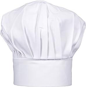 CHEFSKIN Children White Chef Hat Fully Adjustable Soft Fabric