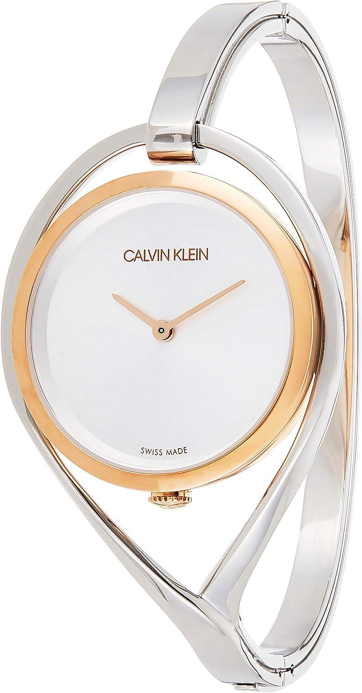 Calvin Klein Reloj Analogico para Mujer de Cuarzo con Correa en Acero Inoxidable K6L2MB16