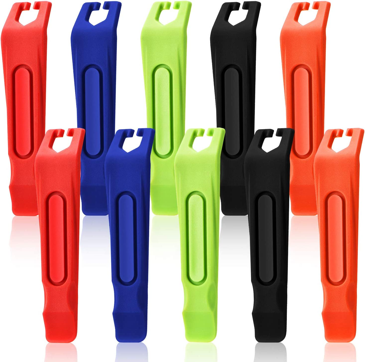 5 Colors 10 Pieces Bicycle Tire Levers Plastic Bike Tire Levers Bicycle Tire Changing Tools for Tire Repairing Changing