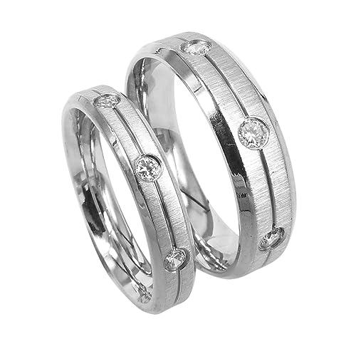 Everstone Anillos de compromiso anillos de bodas anillos de bodas Dos tonos Tamaño: 7-