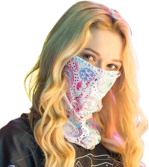 Six11 Galaxy Face Mask Bandana for Raves Festivals Dust Sports Fishing Headband Seamless Tube Neck Gaiter