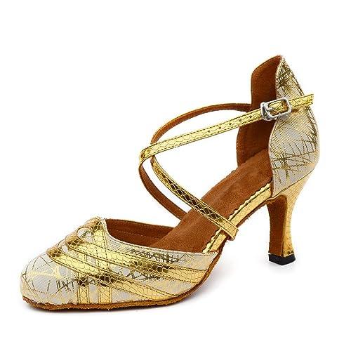 misu - Zapatillas de danza para mujer Dorado dorado: Amazon.es: Zapatos y complementos