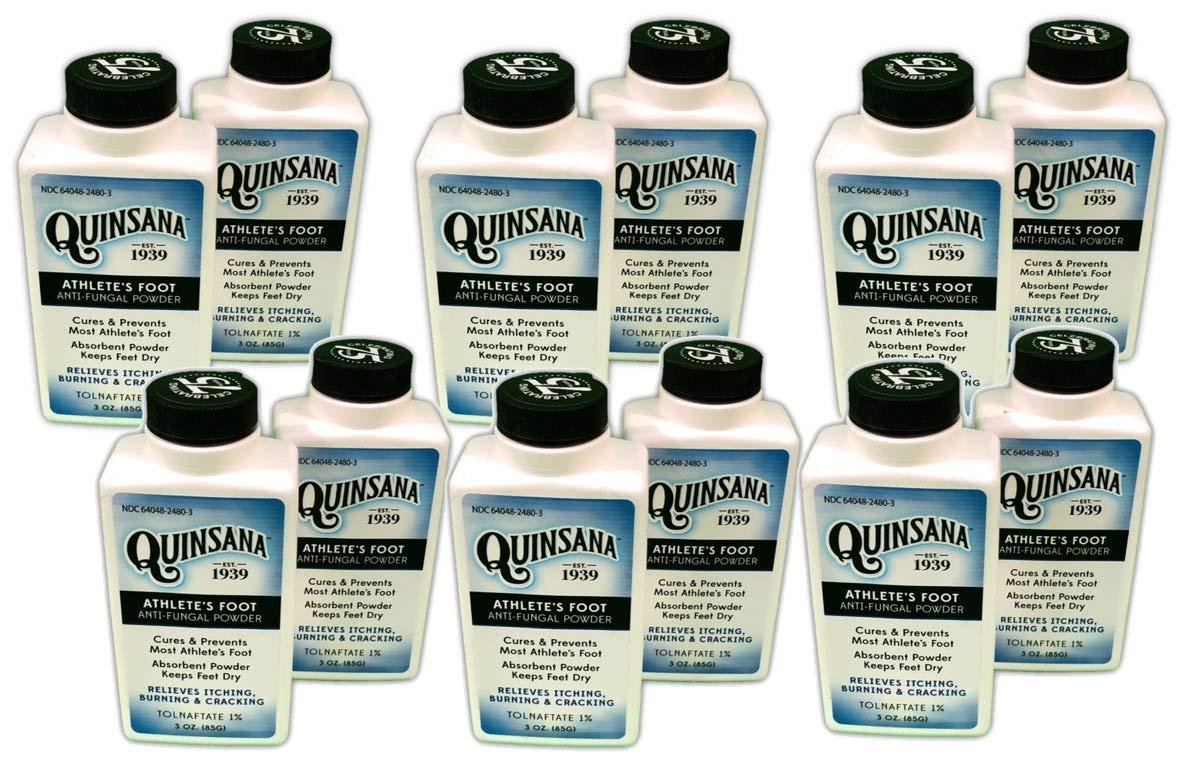 Quinsana Athlete's Foot Anti-fungal Powder - Twelve 3-oz Bottles