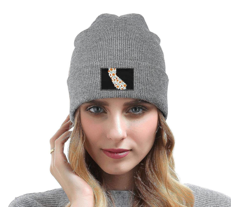 Men Slouchy Beanie Hat Winter Hats California I Love You Map Multifunction Cap