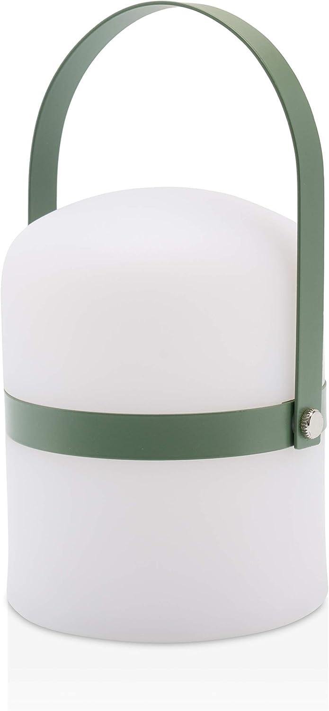 Lámpara de mesa de diseño escandinavo, lámpara de jardín exterior LED, luz de jardín, linterna, lámpara, luz LED, terraza, interior, exterior, regulable, recargable, puerto USB, verde