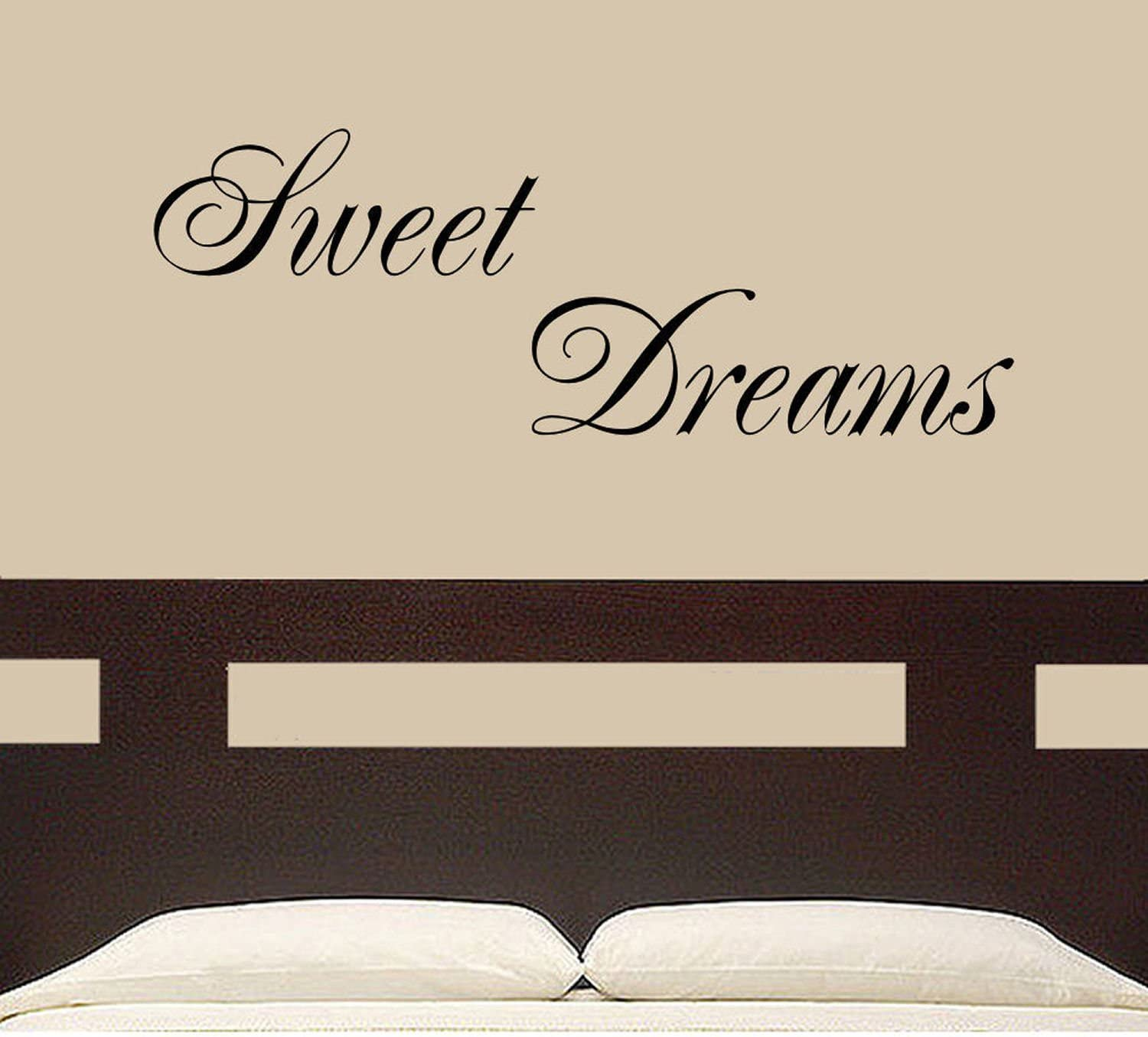 Sweet dreams wall sticker art decal quotes bedroom w43