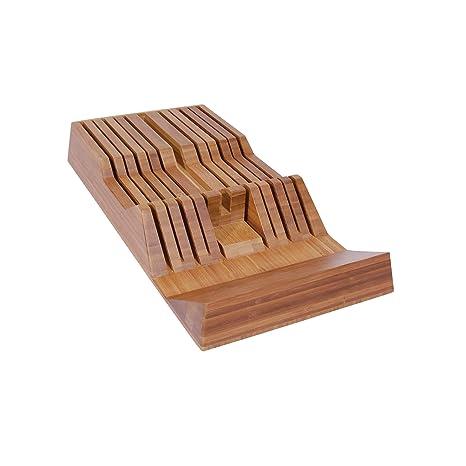 Amazon.com: Shun bambootray en cajón cuchillo Bandeja, 11 ...