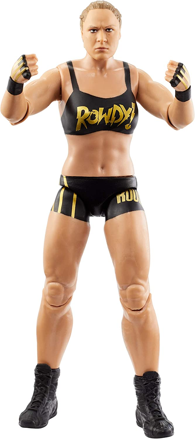 WWE Action Figure in 6-inch Scale with Articulation & Ring Gear, Rhonda Rousey