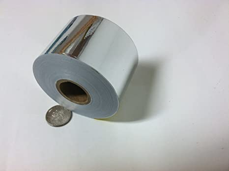 Choose Your Size Silver Chrome Vinyl Tape Adhesive Coated Mirror Plastic