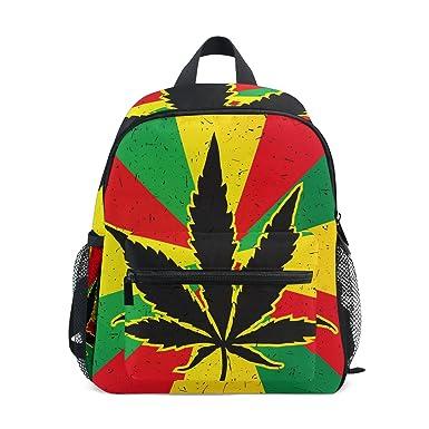Amazon com | My Daily Kids Backpack Marijuana Cannabis