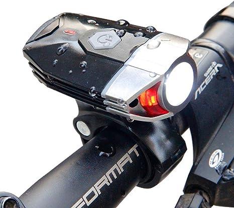 Sunspeed Luz de Bicicleta Delantera con USB Recargable de 4 ...