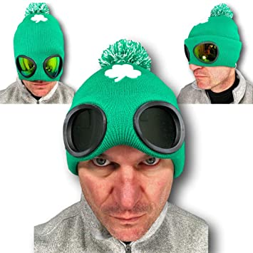 Rubber Johnnies SHADIES, Ireland Rugby Hat with Built in Sunglasses , Green  , Adult , 1 Size