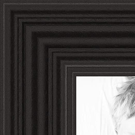 19x24 Black Wood Picture Frame With Acrylic Front and Foam Board Backing