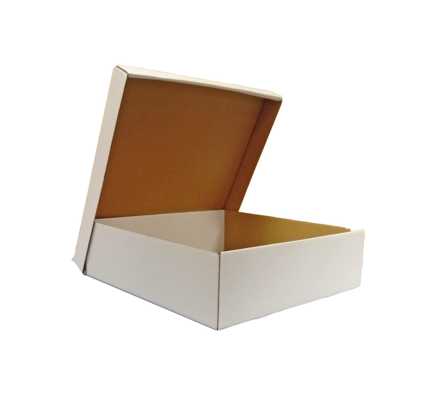 50 X BOX AND LID 400mm x 400mm X 125mm BROWN