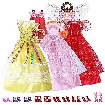 Barbie Kleid Prinzessinnen Kleider Barbiekleidung10 5 Kleidung CerBdxo