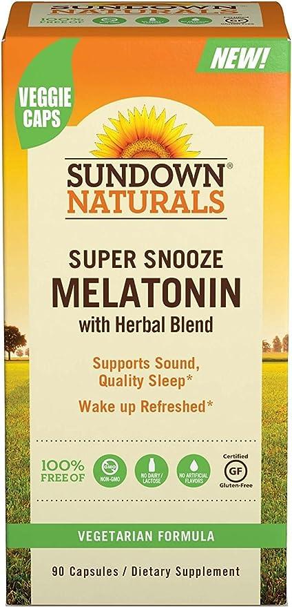 Amazon.com: Sundown Naturals Super Snooze Melatonina, 90 ...