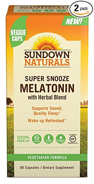 Amazon.com: Sundown Naturals Super Snooze Melatonina, 90 ...
