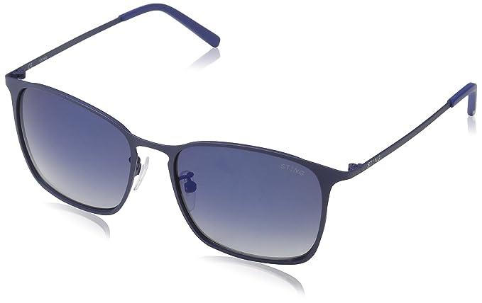 fe90e68f525160 STING Ss4901, Lunettes De Soleil Homme, Bleu (Rubberized Full Blue), Taille