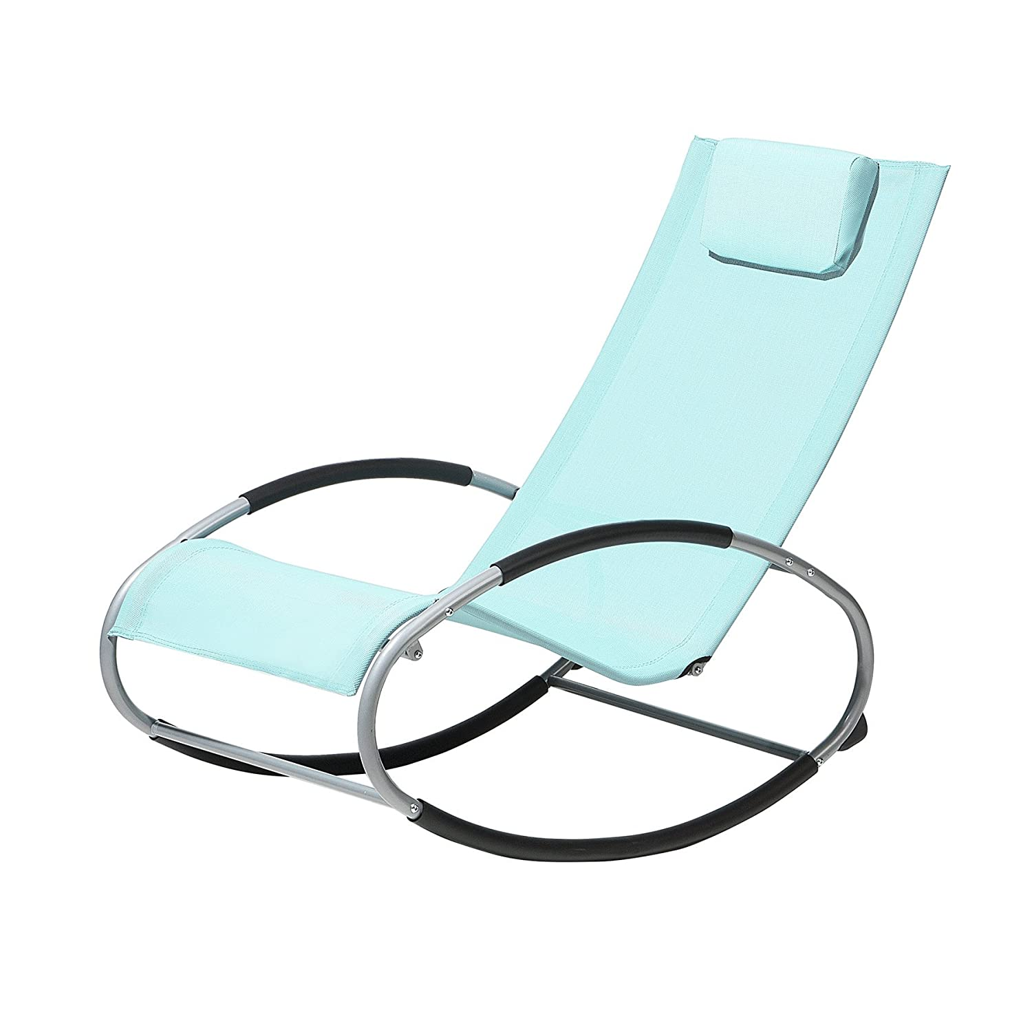 Beliani Rocking Sun Lounger Mint Green CAMPO
