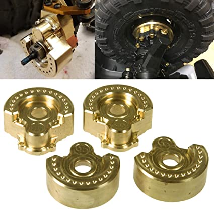 4 x RC1:10 Metal Knuckle Weight for TRAXXAS TRX-4 Rock Crawler T8630 Golden