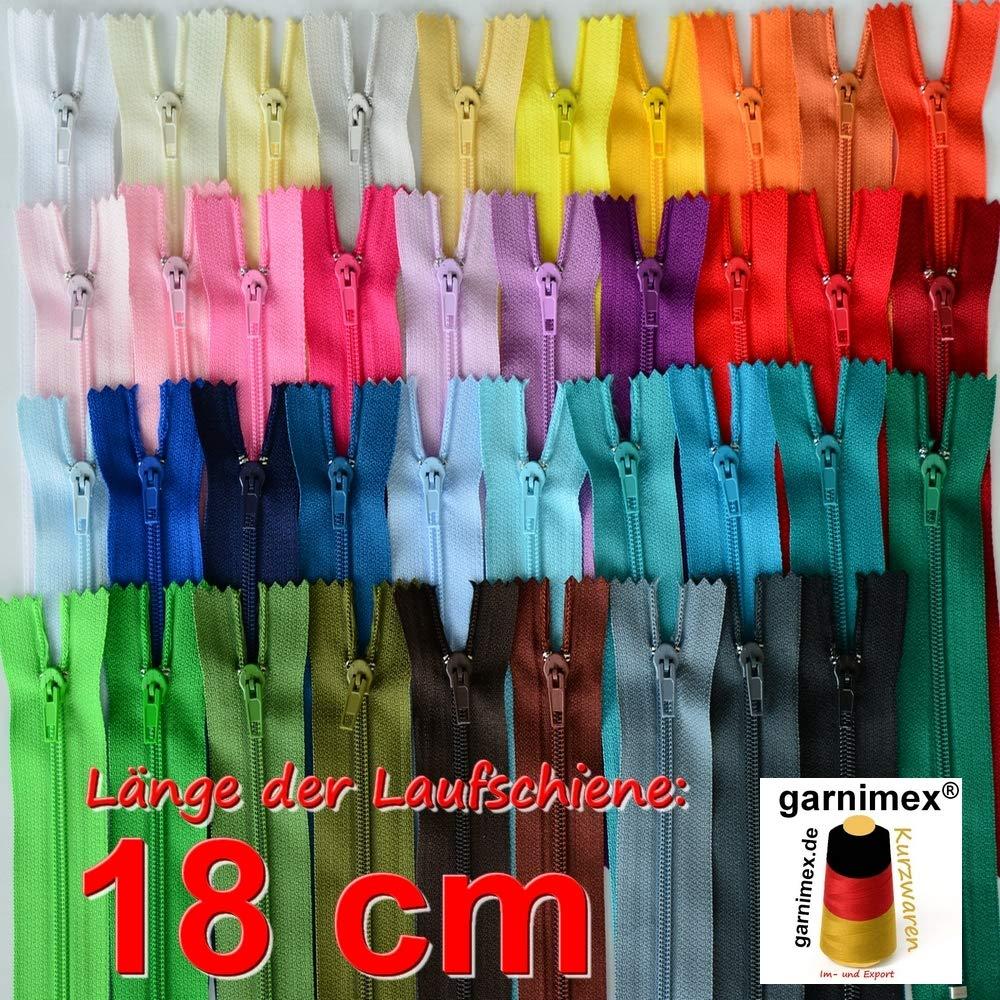 Color Negro 39 Cremallera garnimex 40 cm x 5 Unidades, no Divisible