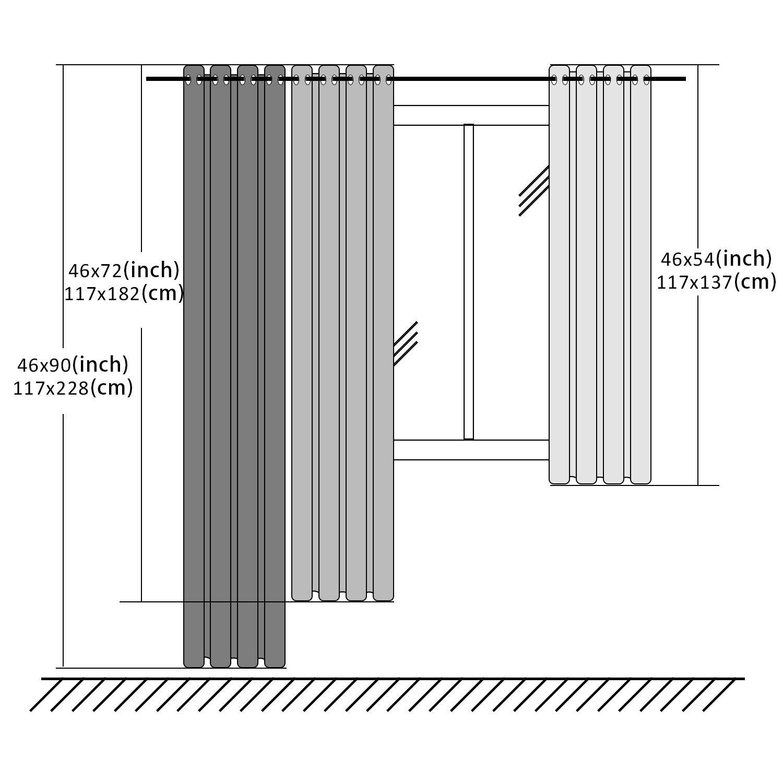 Baum Topfinel Transparente Vorh/änge mit /Ösen Boot//Schiff Mustern Kurze Gardine f/ür Kinderzimmer Fenster Wohnzimmer 2er Set 137x117cm HxB