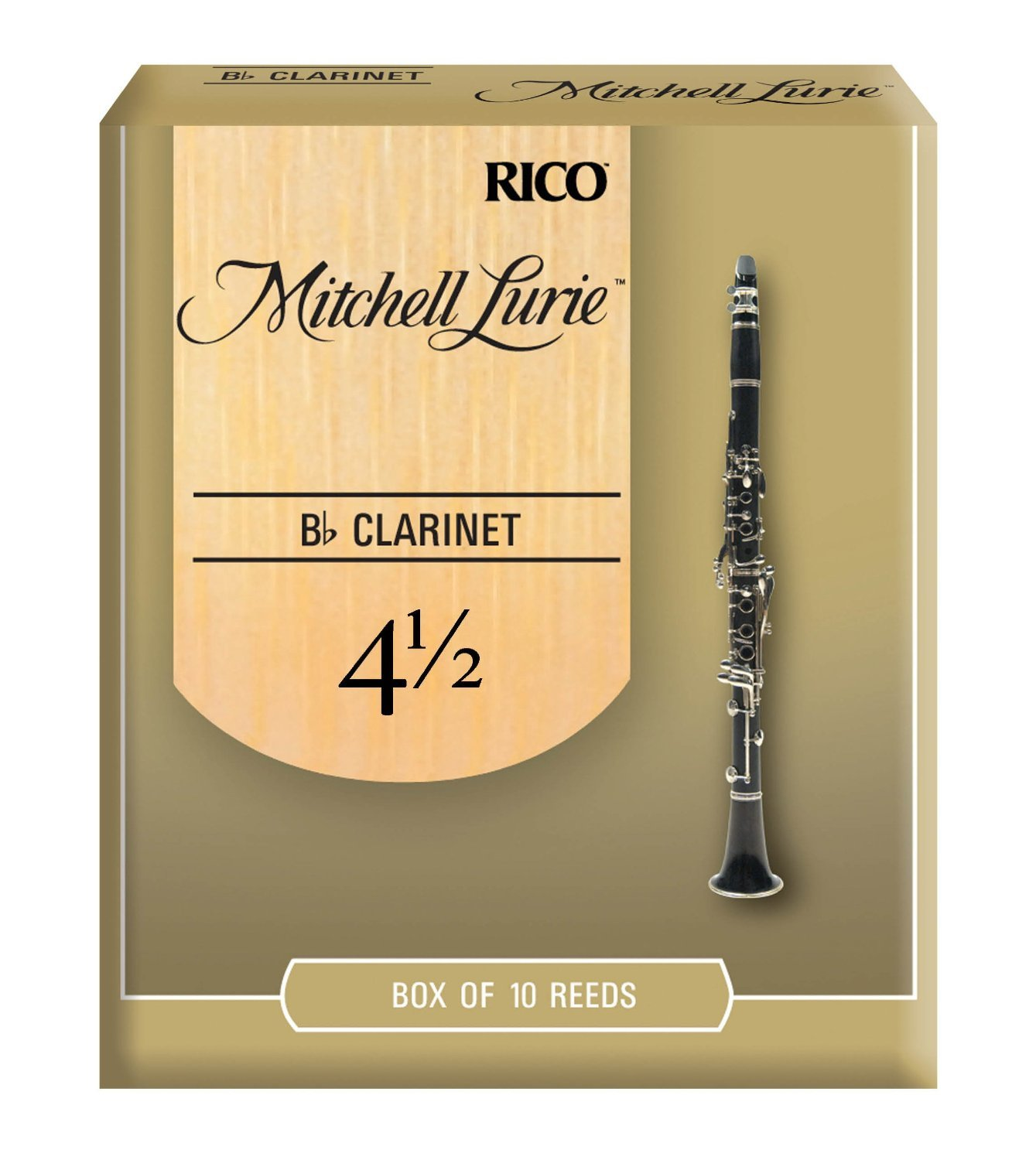 Mitchell Lurie Bb Clarinet Reeds, Strength 3.5, 10-pack D'Addario &Co. Inc RML10BCL350