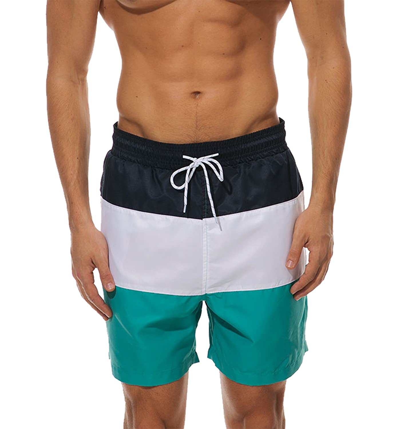 WENER Men's Short Swim Trunks,Best Board Running Swimming Beach Surfing Shorts,Quick Dry Breathable with Mesh Lining