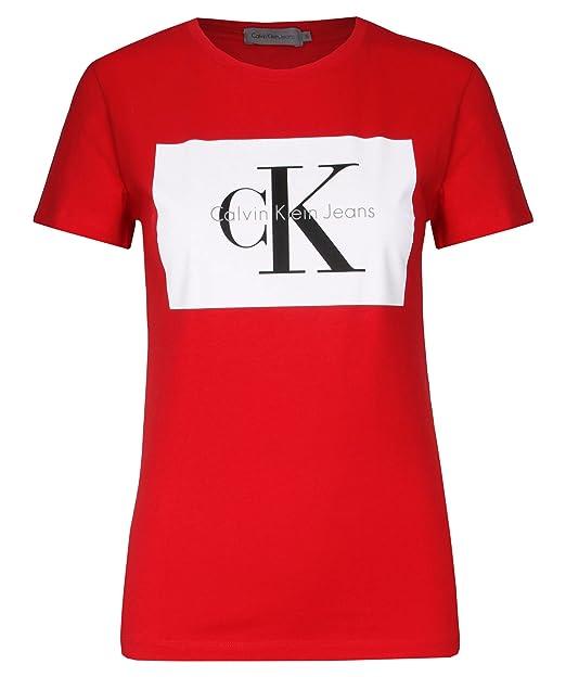 Calvin Con Amazon Mujer Para Ropa Logo s Y Camiseta Klein rxq0wFr