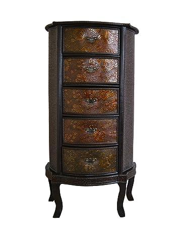 Chinesische Schublade Slim Stauraum Oriental Dunkles Holz Redwood  Schlafzimmer Wohnzimmer