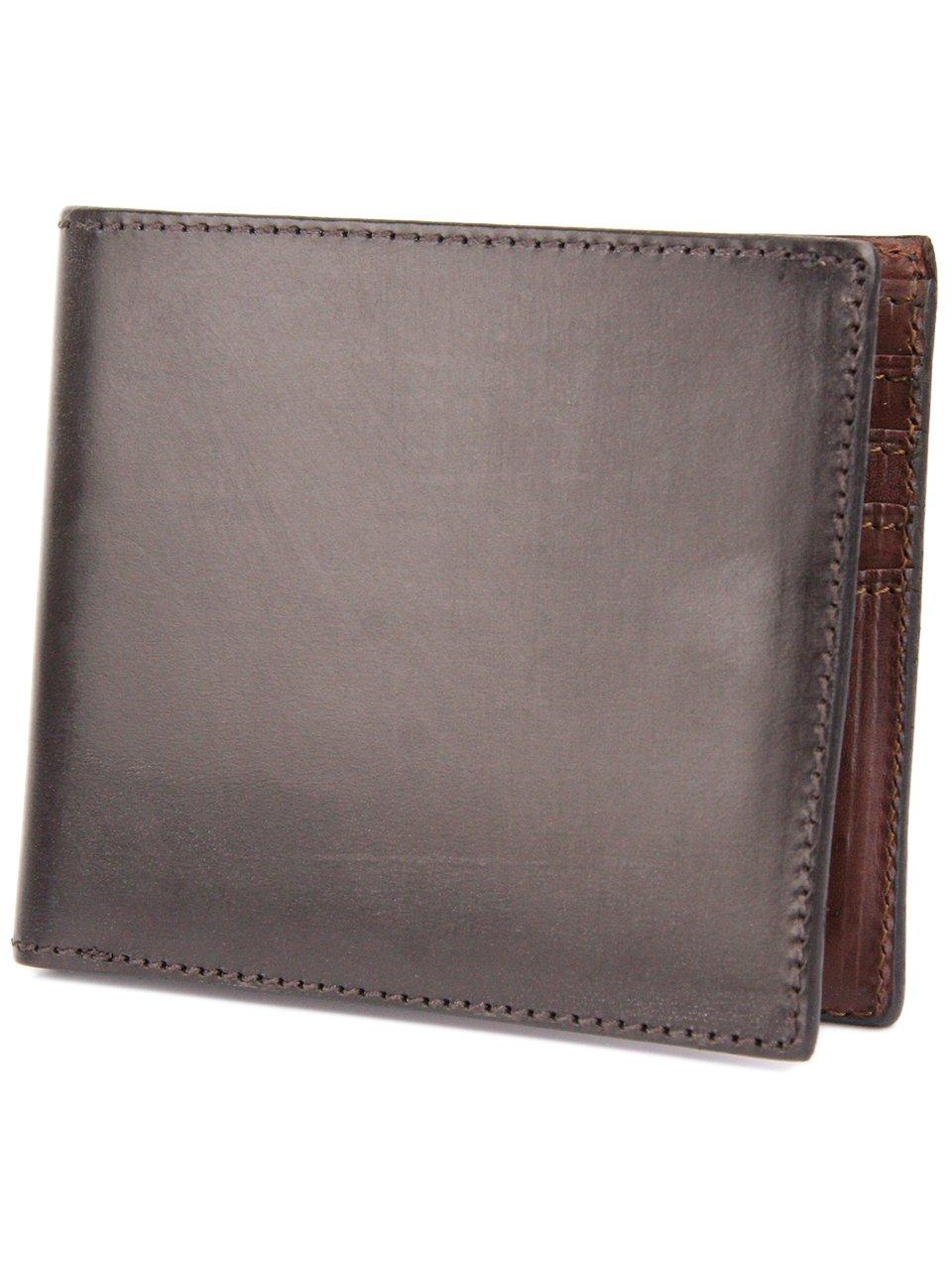 [コルボ] CORBO. -face Bridle Leather- フェイス ブライドルレザー シリーズ 二つ折り財布 1LD-0228 CO-1LD-0228 B006G4HFW0 ダークブラウン ダークブラウン