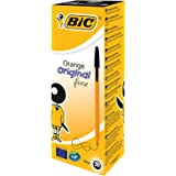 BIC Orange Original Fine Ballpoint Pens Black, Box of 20