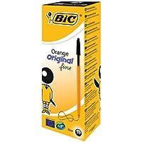 BIC Orange Original Fine Ballpoint Pens Fine Point (0.8 mm) - Black, Box of 20