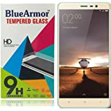 BlueArmor HD Clear Tempered Glass Screen Guard Protector for Xiaomi Redmi Note 3