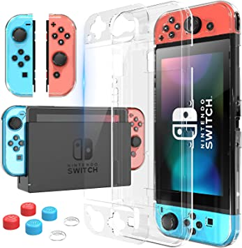 HEYSTOP Carcasa Nintendo Switch, Funda Nintendo Switch con Protector de Pantalla para Nintendo Switch Console y Joy Cons con Agarres para el Pulgar, Nueva Actualización 2020: Amazon.es: Electrónica