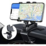 Soporte Móvil para Coche, TBONEEY Soporte de Celular para Auto 3 in 1 Espejo Retrovisor Visera Dashboard Phone Holder Multipr